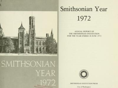 title pages of the 1972 Smithsonian Annual Report