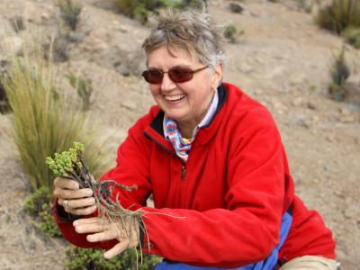 photo of Vicki Funk in the field
